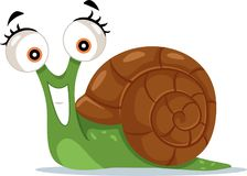 逗人喜爱的蜗牛传染媒介动画片例证 库存照片