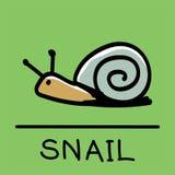 逗人喜爱的蜗牛手拉的样式,传染媒介例证 免版税库存图片