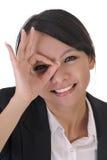 逗人喜爱的表面滑稽的夫人办公室 免版税图库摄影