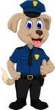 逗人喜爱的警犬动画片赞许 向量例证