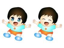 逗人喜爱的赤壁婴孩 免版税库存图片