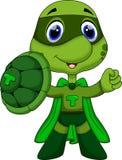 逗人喜爱的超级乌龟动画片 向量例证