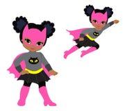 逗人喜爱的超级英雄女孩传染媒介剪贴美术集合 库存图片