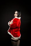 逗人喜爱的辅助工s圣诞老人 图库摄影