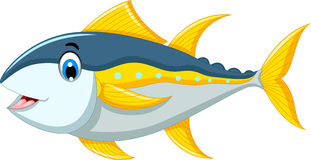 逗人喜爱的金枪鱼动画片 皇族释放例证