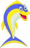 逗人喜爱的金枪鱼动画片 向量例证