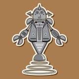 逗人喜爱的钢机器人传染媒介设计 免版税库存图片