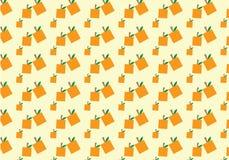 逗人喜爱的长方形橙色样式传染媒介背景五彩纸屑 图库摄影