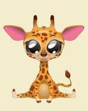 逗人喜爱的长颈鹿传染媒介例证艺术 库存照片