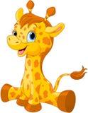 逗人喜爱的长颈鹿小牛 免版税库存图片