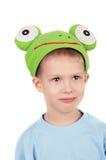 逗人喜爱的青蛙一点 库存图片