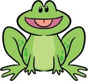 逗人喜爱的青蛙例证向量 免版税库存照片