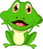 逗人喜爱的青蛙动画片 库存照片