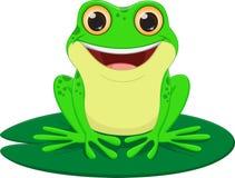 逗人喜爱的青蛙动画片 库存例证