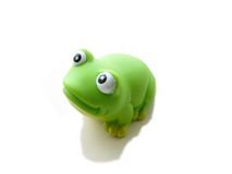 逗人喜爱的青蛙玩具 免版税图库摄影