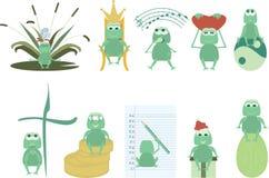逗人喜爱的青蛙 库存图片