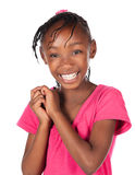 逗人喜爱的非洲女孩 库存图片