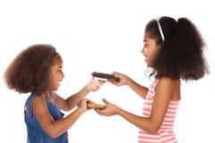 逗人喜爱的非洲女孩 免版税库存照片