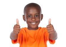 逗人喜爱的非洲男孩 库存图片