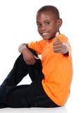 逗人喜爱的非洲男孩 免版税图库摄影