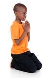 逗人喜爱的非洲男孩 图库摄影