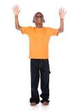 逗人喜爱的非洲男孩 免版税库存照片
