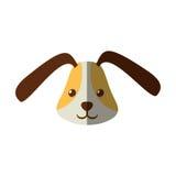 逗人喜爱的顶头小狗滑稽的表示阴影 免版税库存图片
