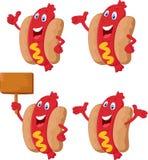 逗人喜爱的香肠动画片 免版税库存图片