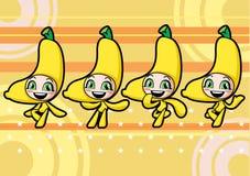 逗人喜爱的香蕉女孩 免版税库存照片