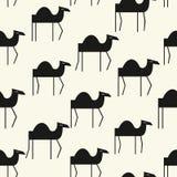 逗人喜爱的骆驼无缝的样式 导航在幼稚样式的背景伟大为织品和纺织品,包装,卡片和 皇族释放例证