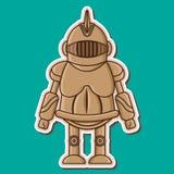 逗人喜爱的骑士木假的Vecyor设计 免版税库存照片