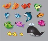 逗人喜爱的鱼向量 库存图片