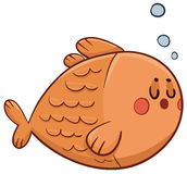 逗人喜爱的鱼游泳 向量例证