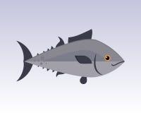 逗人喜爱的鱼灰色动画片滑稽的游泳图表动物字符和水下的海洋野生生物自然水生飞翅海军陆战队员 库存照片