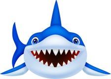 逗人喜爱的鲨鱼动画片 库存照片