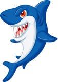 逗人喜爱的鲨鱼动画片 免版税库存图片