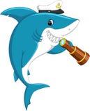 逗人喜爱的鲨鱼动画片 皇族释放例证