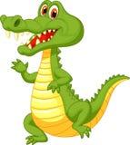逗人喜爱的鳄鱼动画片 免版税图库摄影