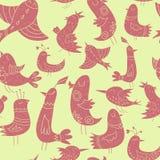 逗人喜爱的鸟样式 免版税库存照片