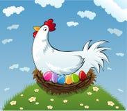 逗人喜爱的鸡 免版税库存图片