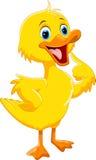 逗人喜爱的鸭子动画片 向量例证