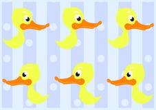 逗人喜爱的鸭子无缝的模式 免版税图库摄影