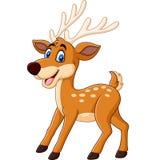 逗人喜爱的鹿动画片 皇族释放例证