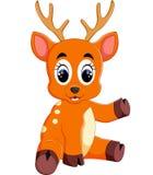 逗人喜爱的鹿动画片 库存照片