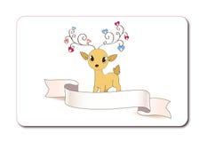逗人喜爱的鹿 免版税库存图片
