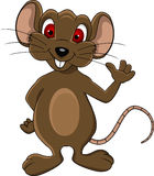 逗人喜爱的鼠标动画片 免版税库存照片
