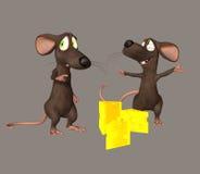 逗人喜爱的鼠标 库存照片