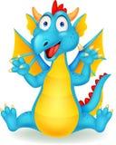 逗人喜爱的龙动画片 免版税库存照片