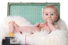 逗人喜爱的婴孩一点 免版税库存图片