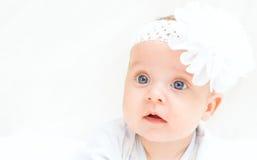 逗人喜爱的婴孩一点 库存图片